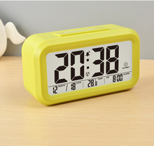 battery operated large calendar digital table clock for home office
