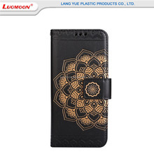 PU Leather Wallet Cover Embossed Mandala Phone Case For Iphone 6/7 Plus 5s 6s With Card Slots & Stand Kickstand