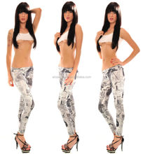 Wholesale Fashion 2014 Hot Sale New Arrival Sexy Girls Women Ladies tight newspaper printed leggings