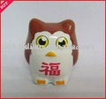 New popular fashionable cartoon model toy cheap promotional gift 3d plastic pvc animal owl toy