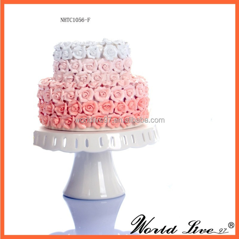 NHTC1056 Promotional Cake and Rose Porcelain Wedding Interior Decoration