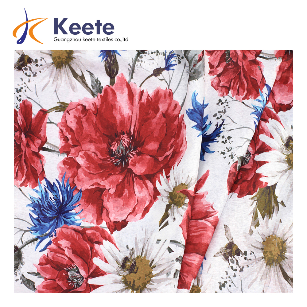 Guangzhou keete high quality customized textile printed factory price digital print fabric design