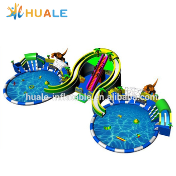 2018 new design giant outdoor inflatable water park, commercial inflatable water playground for sale
