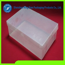 HOT SALE Plastic Transparent Shoe Boxes Clear/Smart Storage Foldable Clear Shoe and custom clear shoe box hard packaging