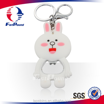 Qute PVC key chains With Bottle Opener