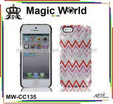 decorative funky rhinestone beaded cell phone case for iphone 4s