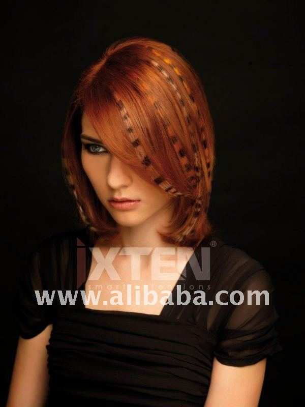 Red Crazy Design Hair Extensions - Tattoo Hair