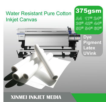 Water Resistant Pure Cotton Inkjet Canvas