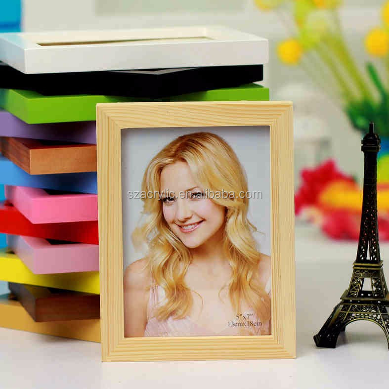 Easy Style Customized Size Mulit Color Wooden Photo Piture Frame