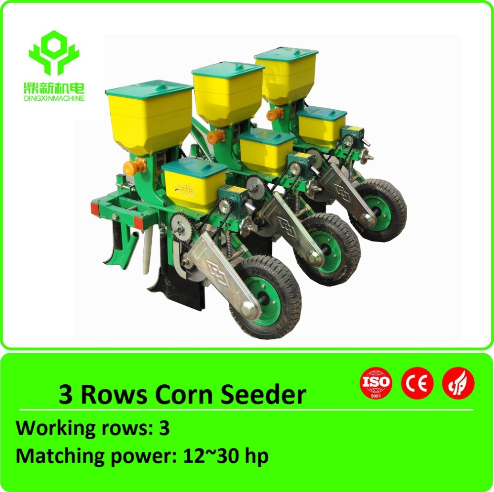Small tractor corn precision planter / maize seeder/3-rows corn planter