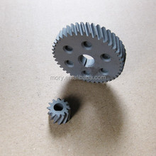 Precision custom metal gears small in helical gearing