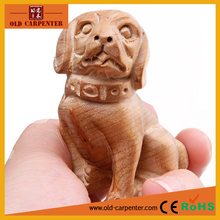 Silkwood Prosperous wealth Dog 6.2*4.3*4.4cm small animal wood sculpture