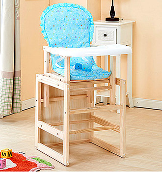 High quality adjustable wooden baby high chair with good price