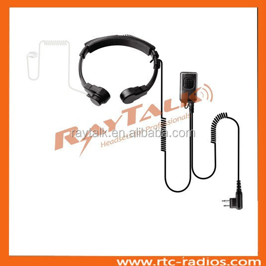High quality heavy duty PTT throat microphone with acoustic tube for Yaesu Vertex wireless radio VX-160 VX-180