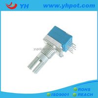 YH jiangsu 9mm high power dual gang sealed rotary audio potentiometer with metal shaft