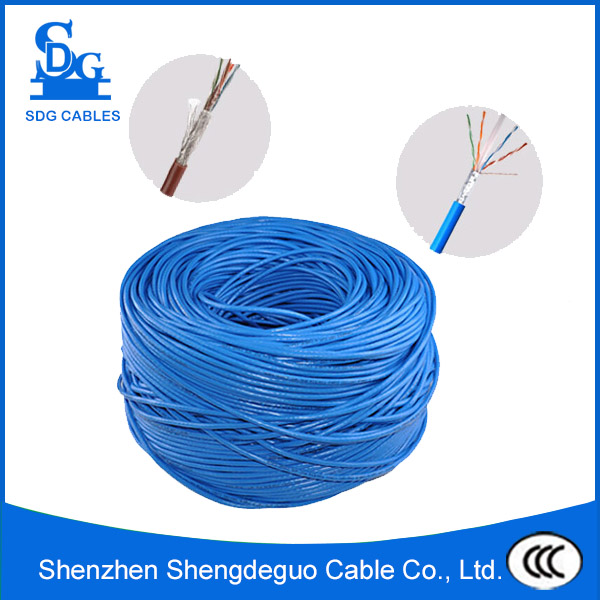 pvc and pe sheathed solid strand 4 pair indoor network 305m utp cat6 cable