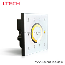 LTECH New Wall mounted Touch Panel Controller with RF2.4G and DMX Output for CT