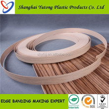 pvc edge banding protector furnitures ,wood grain pvc plastic edge banding made in Shanghai Factory