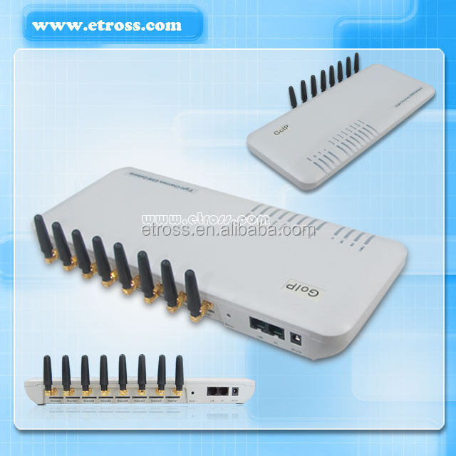 8 Ports GSM Voip Gateway Free International Calls