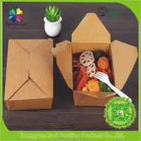 Biodegradable Food Grade Paper Box Take Out Lunch Box