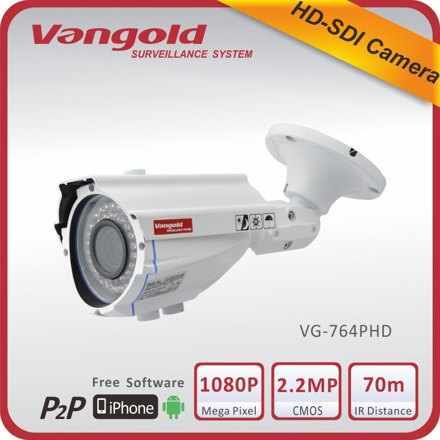 Full HD HD-SDI Serial Data Interface Camera 1.0 Megapixel CMOS 42pcs IR LED Support IR-CUT OSD