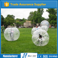 2016 factory direct high quality PVC/TPU bubble soccer inflatables bumper
