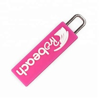Custom Soft PVC Rubber Zip Pull with Metal Hook