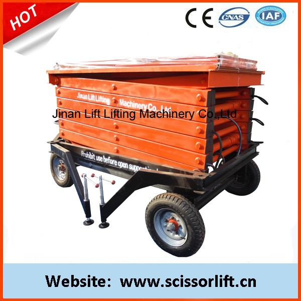 12m 500KG portable electric scissor lift platform for construction