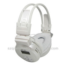 Flexible Folding Hi-Fi SD/MMC Card Mp3 Player Headphone with FM Function White