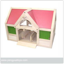 miniature sweet hand painting wooden doll house for kids