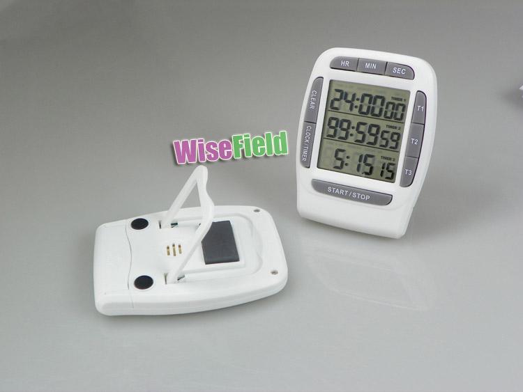 LCD Digital Multi-canal Temporizador de Contagem Regressiva Temporizadores Laboratório <br/> 3 Canal <br/> 99 Horas