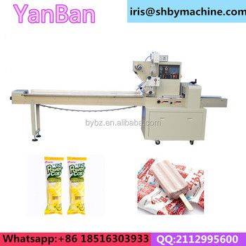 YB-250 Flow Wrapping Machine for Ice Lolly, popsicle