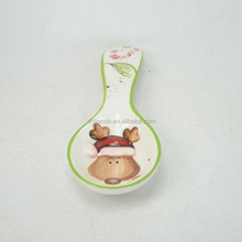 christmas decoration ceramic soup spoon in santa shape