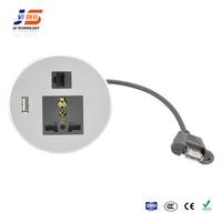 JS-Z200 With USB Charger Brushed Flush Mounted Conference Table Power Socket