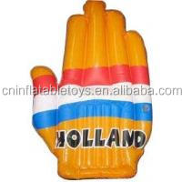 Factory pvc inflatable cheering hand