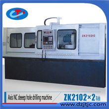 ZK2102 2 axis cnc cylinder deep hole drilling production machine