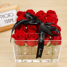 wholesale acrylic flower gift box rose box for ring