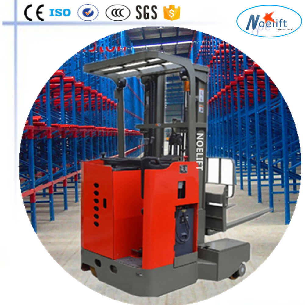 Maximum throughput with the lowest energy consumption 4 way four direction narrow aisle forklift
