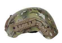 TAN Tactical Helmet W/NVG Mount And Side Rail CL9-0019