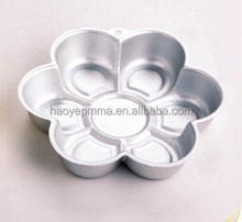 China de 6 pétalos de la flor/daisy shaped cake pan molde cake estaño