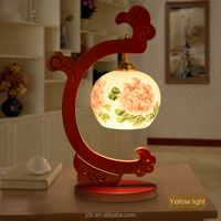 Wedding Gift Mother day's Gift valentines Gift Antique LED A Table Lamp Wood Craft Bedside Lighting Bamboo Lamp