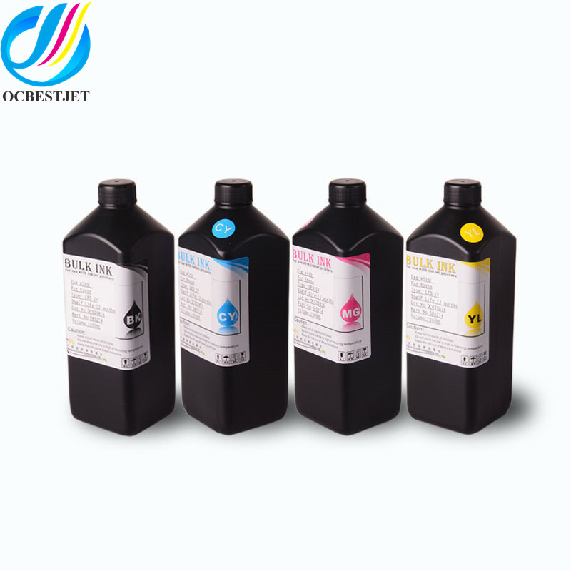 Ocbestjet 1000ml Ink UV LED Printing Ink For Roland Versauv LEF-12 LEF-640 LEC-330A LEC-540 Eco-UV Ink