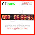 9 digit waterproof outdoor led clock time date temperature sign