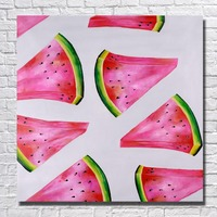 Water melon pictures abstract paintings hand drawing pop art painting for modern living room