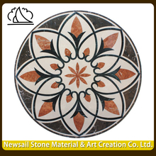 Newsail High Grade Round Marble Water Jet Floor Medallions