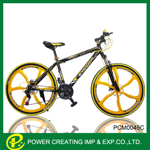 6 spokes one wheel gold design 26inch mountain bike