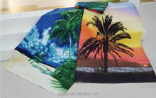 100% cotton custom printed compressed beach towel promotional gift