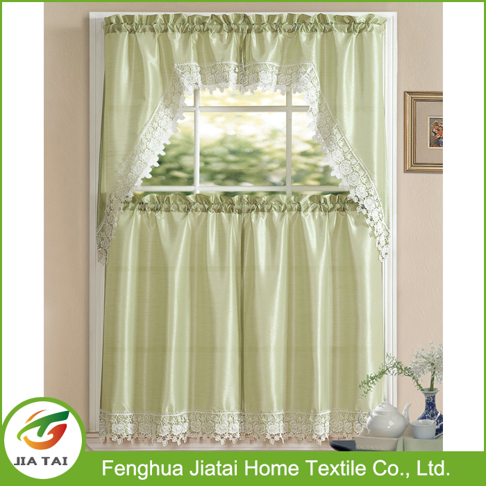 Kitchen curtain holdback 100% polyester good quality embroidery curtain