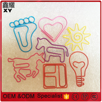 Factory price OEM Designs different kinds decorative metal custom logo paper clip