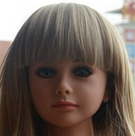 oral sex green eyes plastic black doll head with hair for 100cm tall sex doll with bolt to connact with body GFM-A100-5
